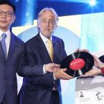 Bravo's Steven Fock, Grammys CEO Neil Portnow and China Music Vision's Ling Yan, Grammy Festival China launch