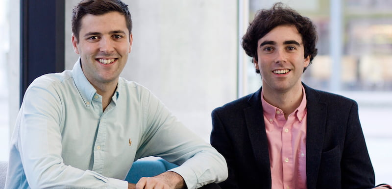 L–R: TickX co-founders Steve Pearce and Sam Coley, BGF Ventures