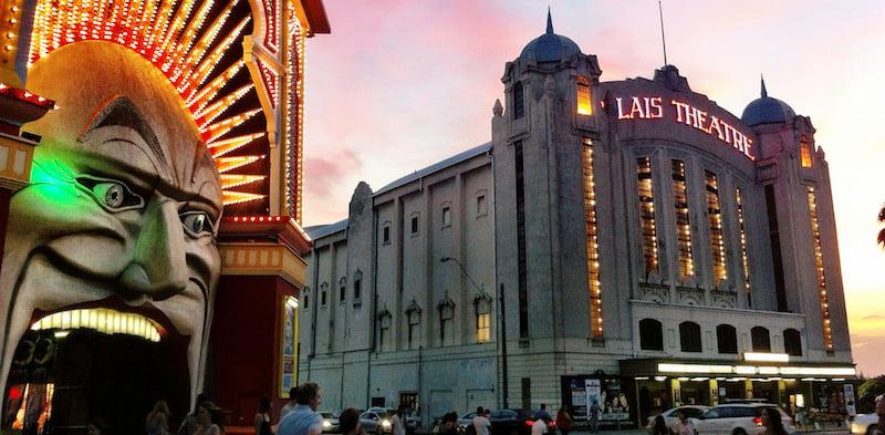 Melbourne's Luna Park and Palais Theatre