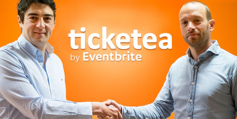 Ticketea's Javier Andres (left) and Frans Jonker, Ticketscript founder and now Eventbrite GM for Europe