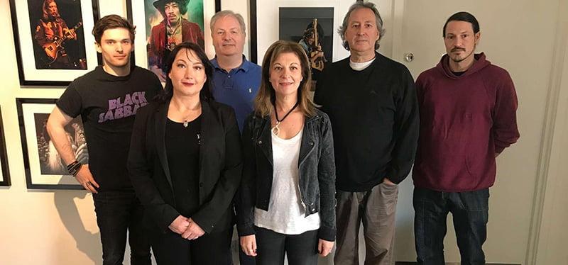 K2/EGO team: Leo Benton, Sharon Richardson, Morewood, Jane Miller, Jackson, Stetter