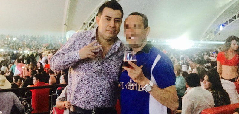 Jesús 'Chucho' Pérez Alvear, pictured on his now-deleted Twitter account