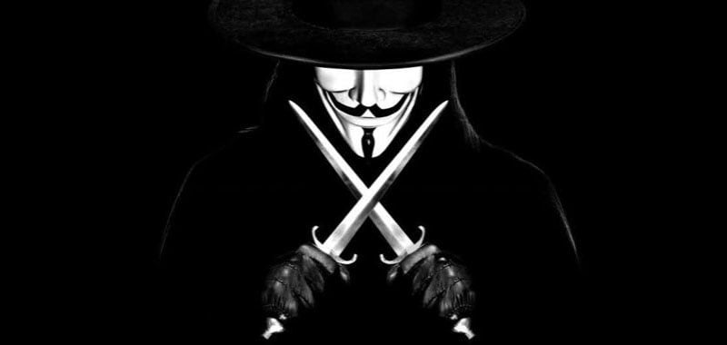 A Guy Fawkes figure featured in the message left by 'IsHaKdZ'