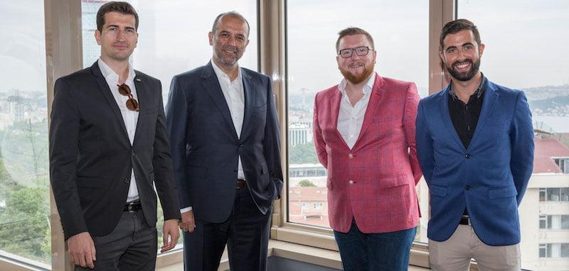 Cemil Demirok (CEO, PIU); Basar Sen (PIU Managing Partner); David Hutchinson (Selladoor Executive Creative Producer); Phillip Rowntree (Selladoor Executive Commercial Producer)
