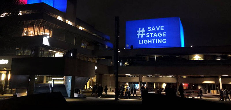 The National Theatre has lent its backing to the #SaveStageLighting campaign