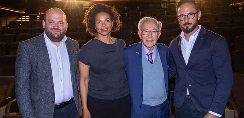L–R: Mihail Groys (project coordinator, BMG), Walton, Lesser and Rotstein
