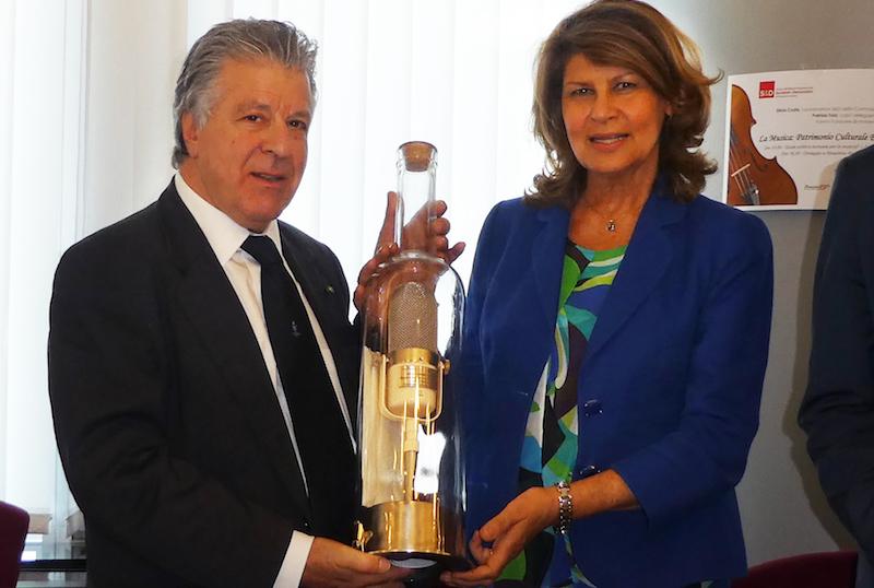 Assomusica Vincenzo Spera and Silvia Costa