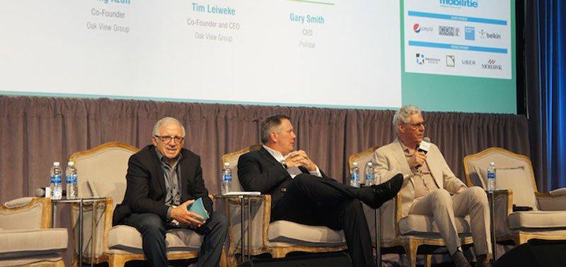 Azoff, Leiweke and Gary Smith at VenuesNow 2017