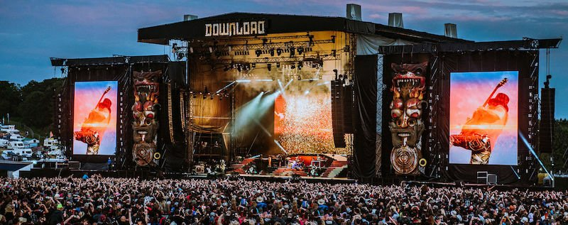 Guns n Roses onstage at Download 2018