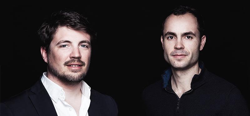 Weezevent founders Pierre-Henri Deballon (left) and Sebastien Tonglet