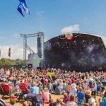 Fans at day three of Camp Bestival, just one day before bad weather hit