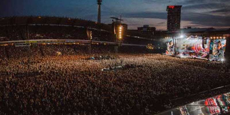 Guns N' Roses performing in Sweden on their Not in this Lifetime Tour