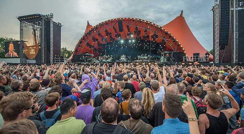 Revellers at Denmark's Roskilde Festival