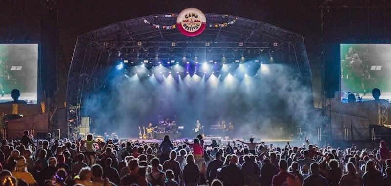 Rick Astley performs at Camp Bestival 2018