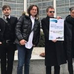 Jean-Michel Jarre leads a Cisac delegation to the EU parliament