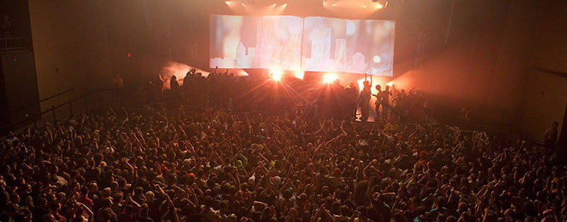 Indoor/outdoor venue Stage AE, PromoWest