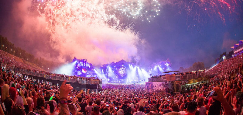 The sold-out tenth-anniversary Tomorrowland 2014 was attended by 360,000 people