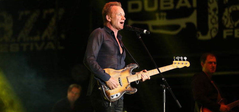 Sting performs at Dubai Jazz Festival 2016