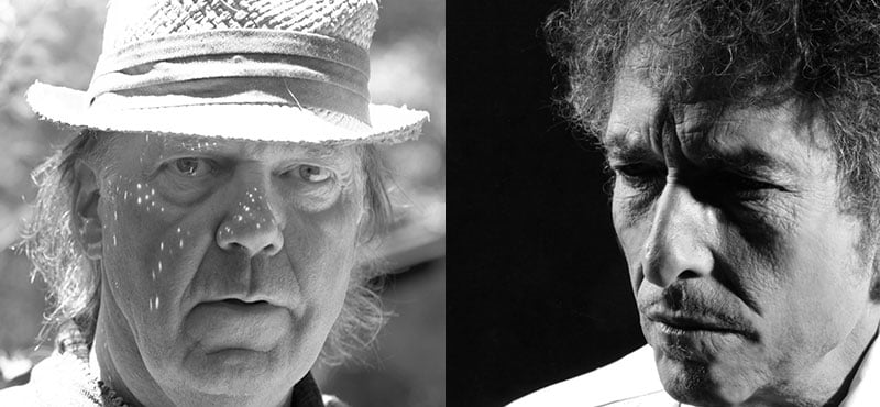 Neil Young, Bob Dylan