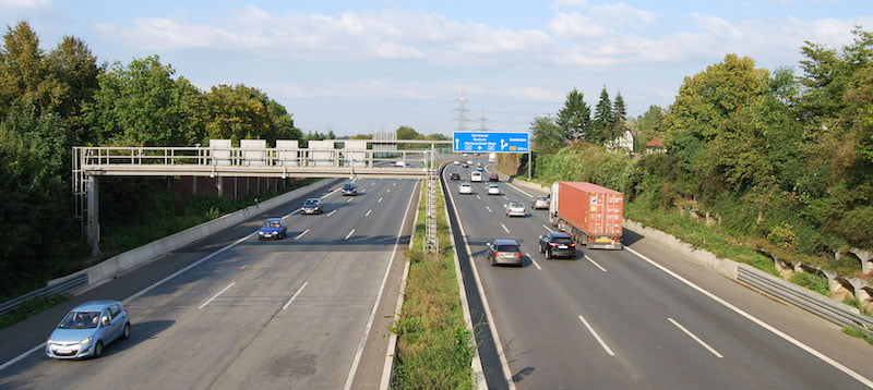 German motorists are charged tolls which go towards maintaining the road infrastructure