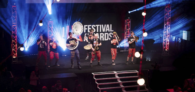 New York Brass Band perform at the UK Festival Awards 2017