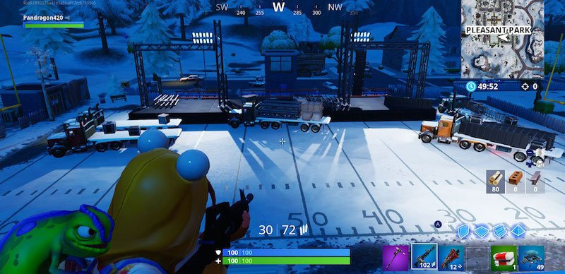 Marshmello's stage being set up in game