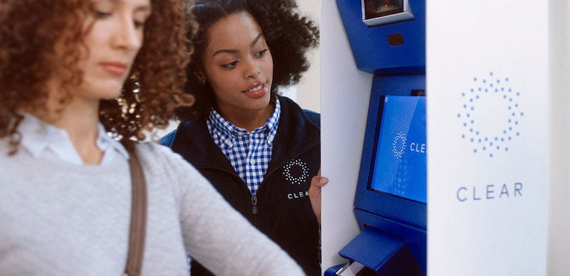 Clear lanes, which use biometrics – eyes and fingerprints – to verify travellers' IDs, are also in use at New York's JFK airport