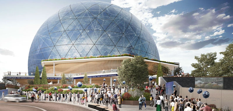 A new rendering showing the Angel Lane entrance to the Sphere