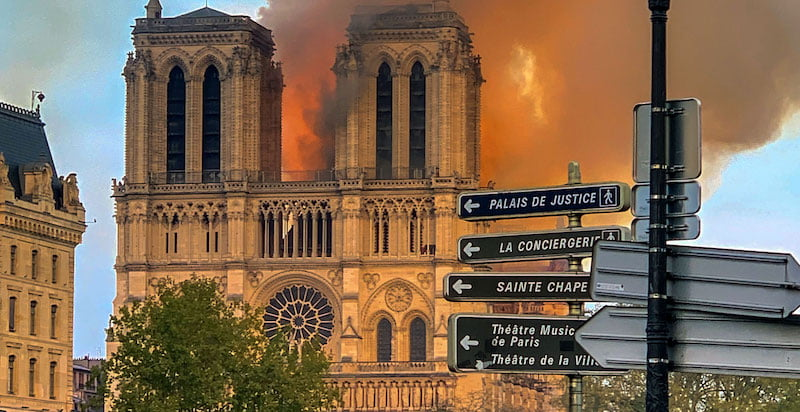 Notre-Dame was under renovation at the time of the fire