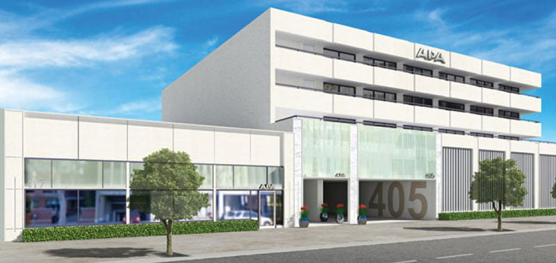 A rendering of APA's headquarters in Beverly Hills