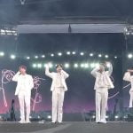 BTS on stage at Wembley Stadium on 1 June