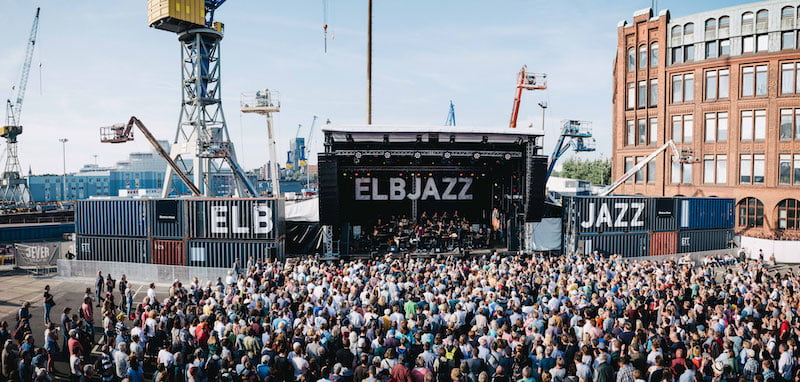 The main stage at Blohm + Voss