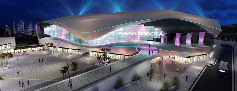 A rendering of the completed Arena Bogota
