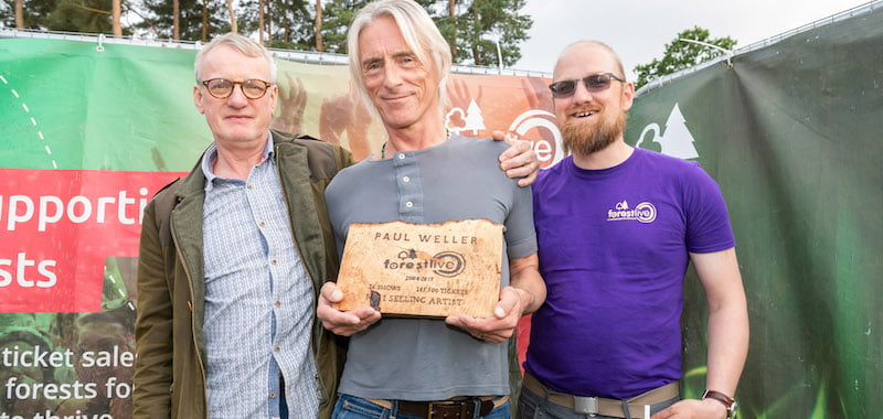 Forest Live name Paul Weller best-selling artist