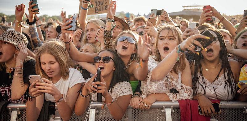Billie Eilish fans at Lolla Stockholm