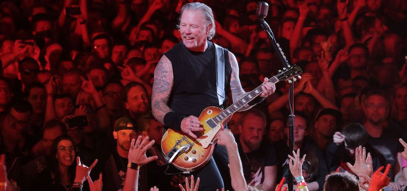 Metallica's James Hetfield in Tartu, Estonia, on 18 July 2019