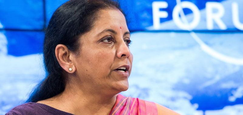 Indian finance minister Nirmala Sitharaman