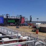 Vestiville's unfinished festival arena