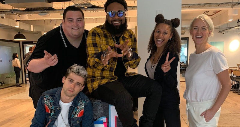 Blanco Brown, whose song 'The Git Up' was popularised on TikTok, visited the company's London office in October