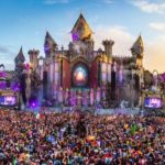 Virtual worlds created for dance music festivals
