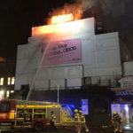 Koko ablaze on the evening of Monday 6 January