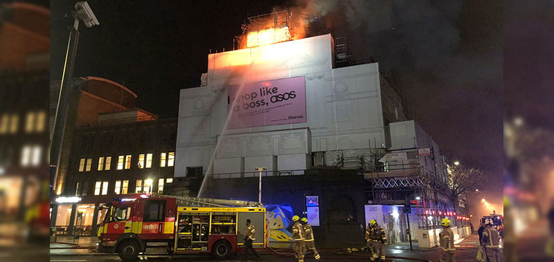 Koko ablaze on the evening of Monday 6 January