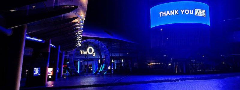#LightItBlue at the O2
