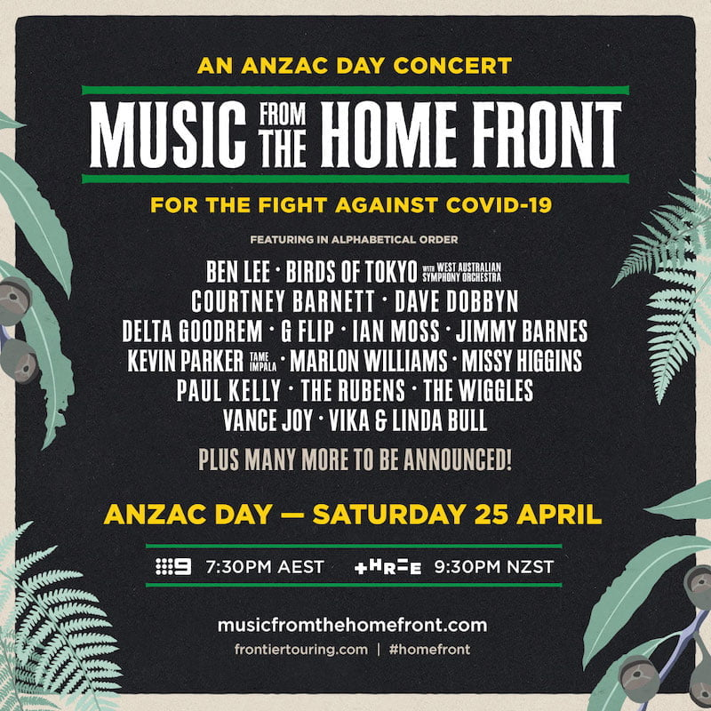 Music from the Home Front line-up
