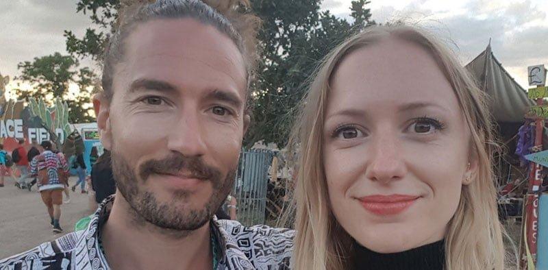 Ben Kouijzer with fiancée Lotte