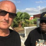 DJ Carl Cox with tour manager Ian Hussey