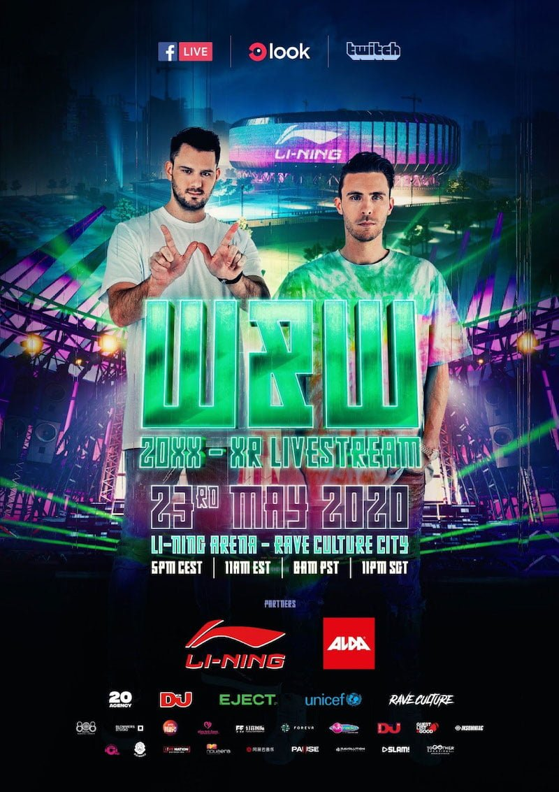 W&W virtual livestream poster