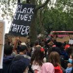 Black Lives Matter protesters in London, UK, on 3 June