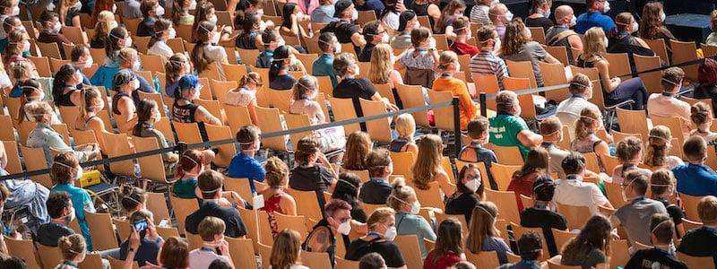 Social distancing (scenario three), Restart-19, Arena Leipzig