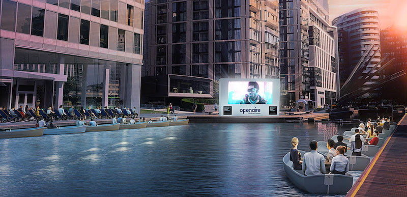 Openaire will bring the float-in cinema concept to Regent's Canal in London
